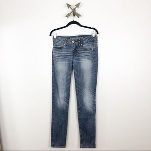 American Eagle Womens Dark Wash Super Skinny Sz 6
